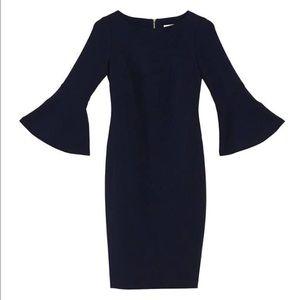 Ralph Lauren Black Dress Navy Bell Sleeves Size 4